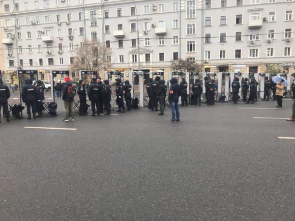 Митинг 29 сентября на проспекте Сахарова. Хроника