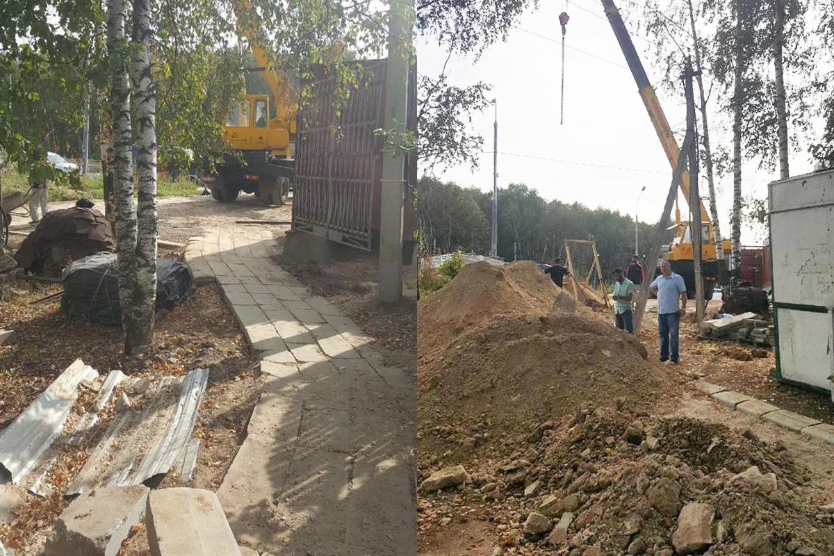 Развлечения назахоронениях: подмосковный депутат строит парк внескольких метрах отБутовского полигона