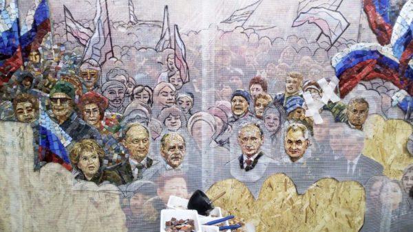 Главный храм Вооруженных сил украсят мозаикой с Путиным, Шойгу и Сталиным